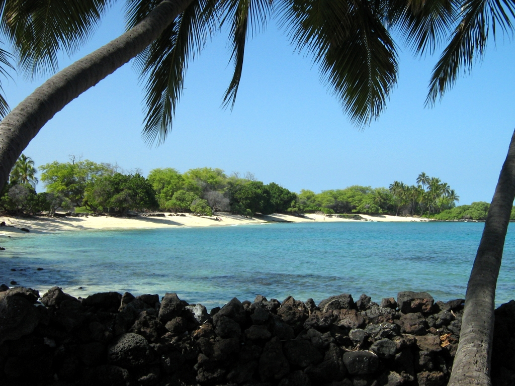 A nice beach near the Kona airport